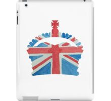 British Royal Coronation Crown in UK Flag Water Colors Red, White and Blue  iPad Case/Skin