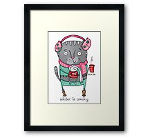 Winter is coming.. Framed Print