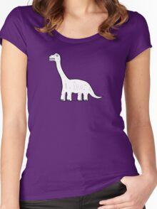 Cartoon Brachiosaurus Women's Fitted Scoop T-Shirt