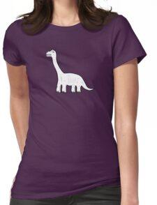 Cartoon Brachiosaurus Womens Fitted T-Shirt