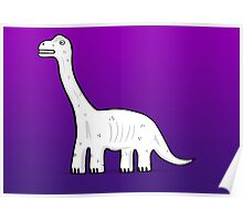 Cartoon Brachiosaurus Poster