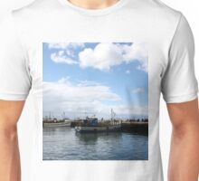 Boats at Harbour Unisex T-Shirt
