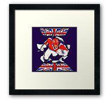 Captain Britain Framed Print