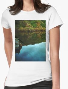 River reflection Womens Fitted T-Shirt