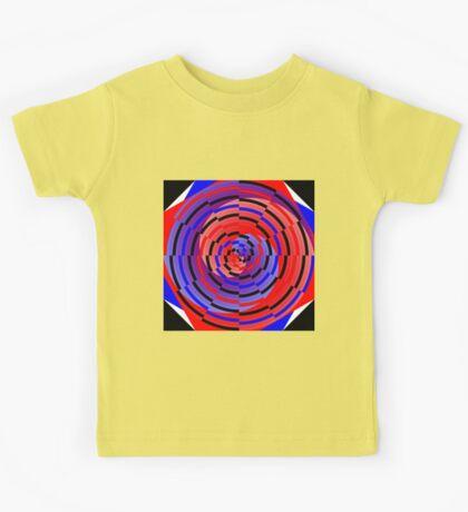 Red & Blue Counter Spiral Kids Tee