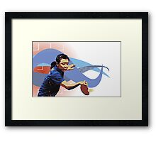 Ping Pong / Table Tennis Framed Print