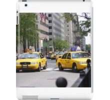 New York 5th Ave Yellow Cabs iPad Case/Skin