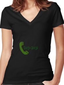 The Phone Dude Experience Women's Fitted V-Neck T-Shirt