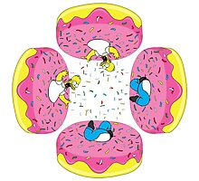 Funny Donuts Photographic Print