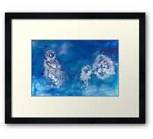 Blue Water Jelly 4 Framed Print