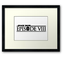 Star Wars Episode VIII 8 Space Bear - Black Framed Print