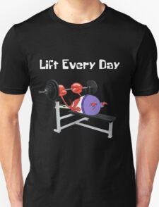 Mr. Krabs Bench Pressing Unisex T-Shirt