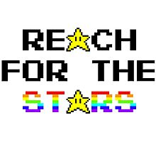 """Reach For The Stars"" 8 Bit Parody Photographic Print"