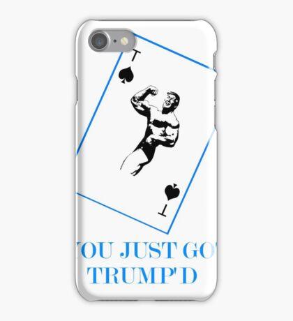 YOU JUST GOT TRUMP'D Blue iPhone Case/Skin