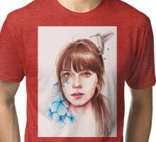 'Humming Girl' Tri-blend T-Shirt