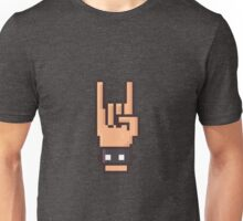 Pixel Art Rock Hand Unisex T-Shirt