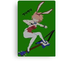 FLCL Haruko guitar pixelart Canvas Print