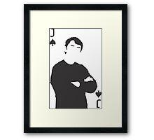 Minimalist John Watson - Jack of Spades Framed Print