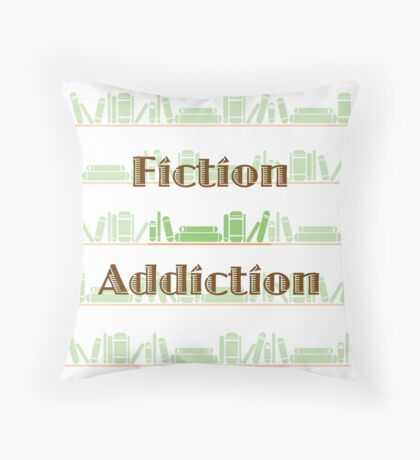 Fiction Addiction Throw Pillow