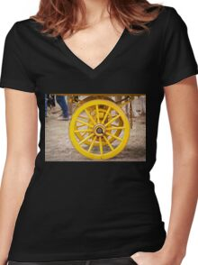 Rolling On Women's Fitted V-Neck T-Shirt
