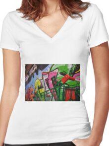 Urbane Women's Fitted V-Neck T-Shirt