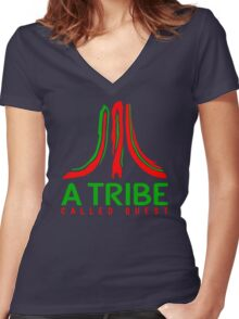 Atari Called Quest Women's Fitted V-Neck T-Shirt