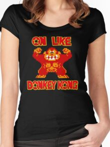 On Like Donkey Kong Women's Fitted Scoop T-Shirt
