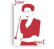 Minimalist Irene Adler - Joker Canvas Print