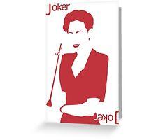 Minimalist Irene Adler - Joker Greeting Card