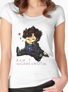 The Game Is NOT On Women's Fitted Scoop T-Shirt