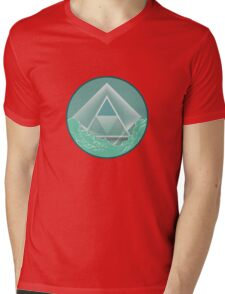 Skyview Mint Mens V-Neck T-Shirt