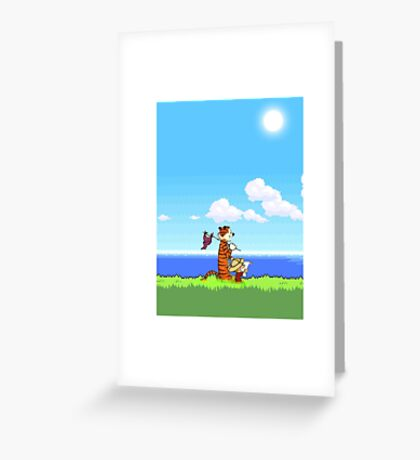 calvin and hobbes Fun Greeting Card