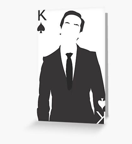 Minimalist Jim Moriarty - King of Spades Greeting Card