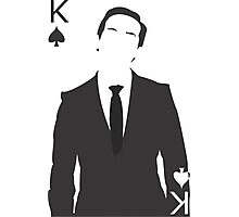 Minimalist Jim Moriarty - King of Spades Photographic Print