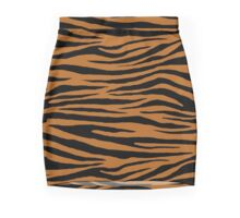 0363 Light Brown Tiger Mini Skirt