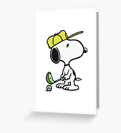Snoopy Golf Greeting Card