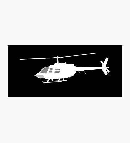 Urban Chopper Helicopter Photographic Print