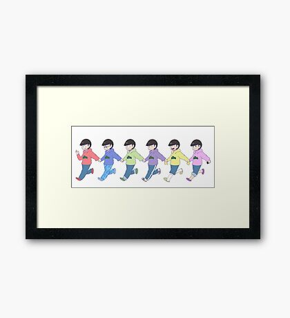 Six Same Faces! Framed Print