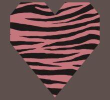 0365 Light Coral Tiger Baby Tee