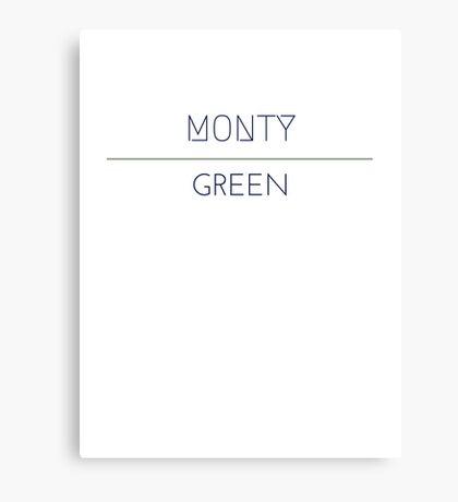 Monty Green Canvas Print