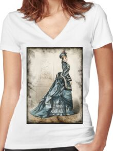 FASHIONABLE LADIES VINTAGE 15 Women's Fitted V-Neck T-Shirt