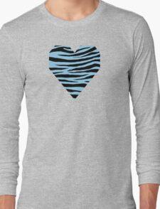 0366 Light Cornflower Blue Tiger Long Sleeve T-Shirt