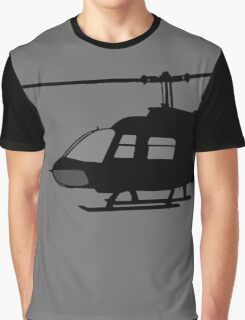 Urban Chopper Helicopter Silhouette Graphic T-Shirt
