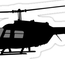 Urban Chopper Helicopter Silhouette Sticker