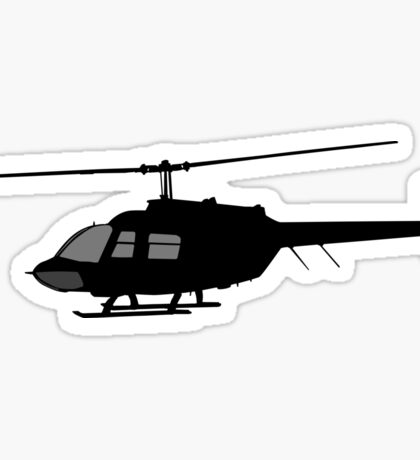 Urban Chopper Helicopter Silhouette Sticker