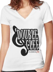 GTA III - Double Cleff FM Women's Fitted V-Neck T-Shirt