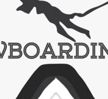 Snowboarding Sticker