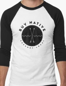 BUY NATIVE Men's Baseball ¾ T-Shirt