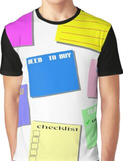 STICKY NOTES Graphic T-Shirt