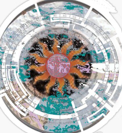 Sun Dial Compass Sticker